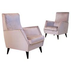 Elegant Pair of Italian Armchairs