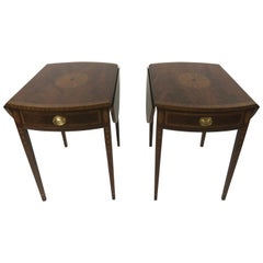 Elegant Pair of Pembroke Drop-Leaf End Tables by Councill