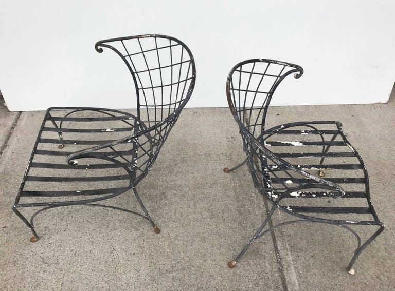 Elegant Pair of Salterini Wrought Iron Outdoor Patio ...