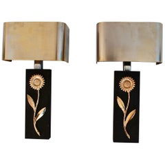 Elegant Pair of Sconces by Maison Charles