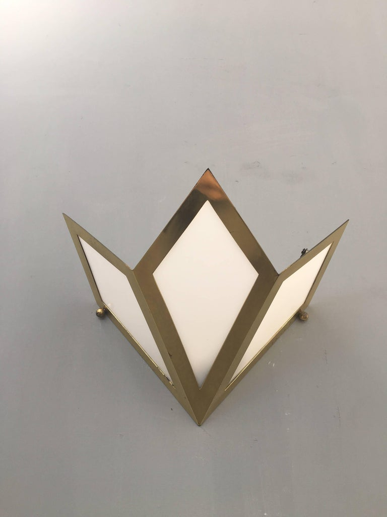 Mid-Century Modern Elegant Pair of Wall Lights Signed Gabriella Crespi For Sale