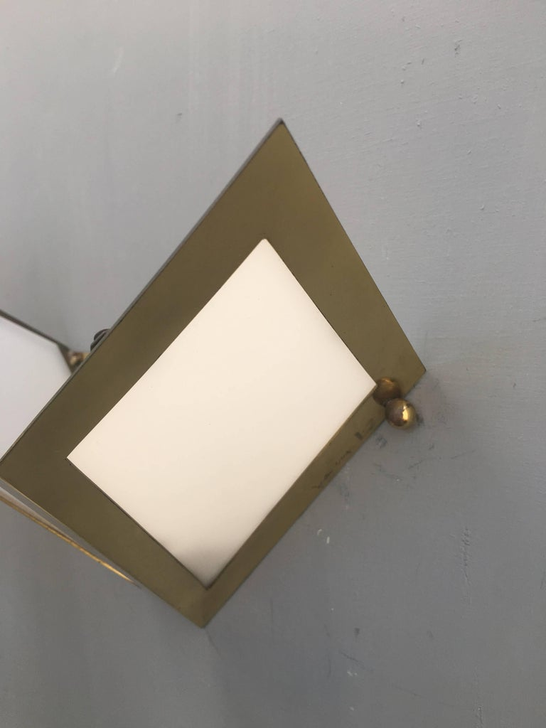Elegant Pair of Wall Lights Signed Gabriella Crespi For Sale 1