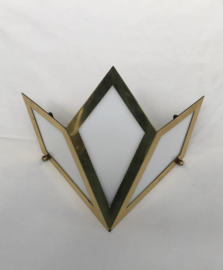 Elegant Pair of Wall Lights Signed Gabriella Crespi For Sale 3