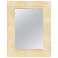 Elegant Parchment Mirror by R & Y Augousti