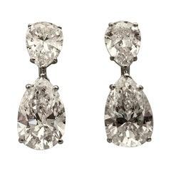 Elegant Pear Shape Drop Earrings