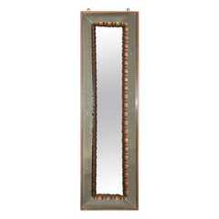 Elegant Pier Luigi Colli Wall Mirror 1950s Wood and Glass