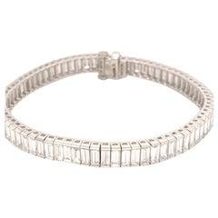 Elegant Platinum 15.83 Carat Baguette Diamond Bracelet