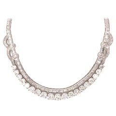 Elegant Platinum 22.99 Carat All Diamond Necklace