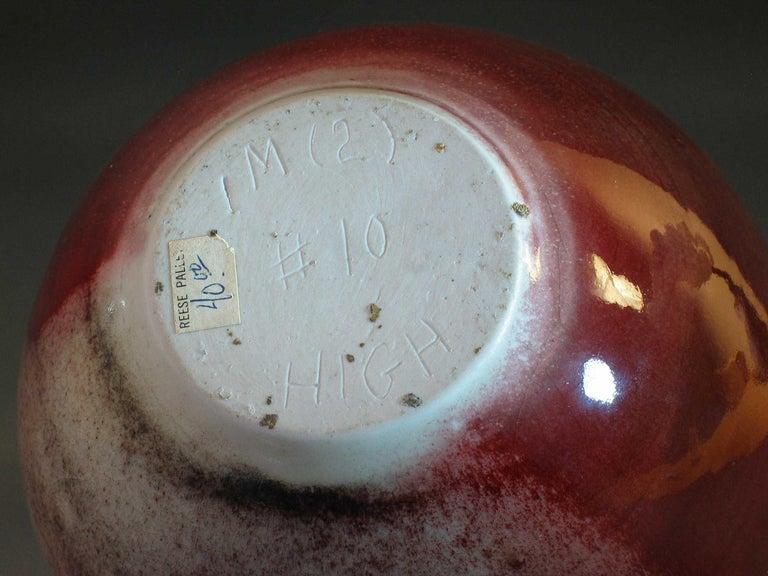 Elegant Porcelain Weed Pot in Rare Copper Red Peachbloom Glaze For Sale 2