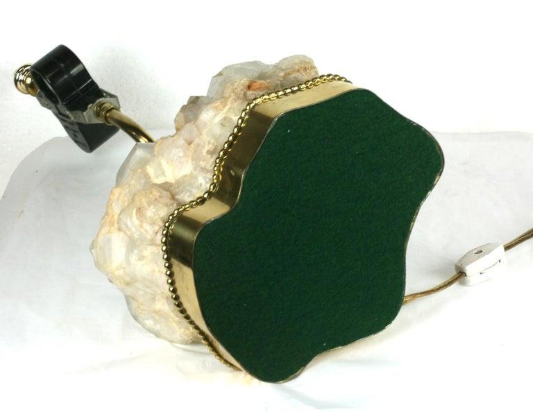 Elegant Rock Crystal Quartz Lamp For Sale 2