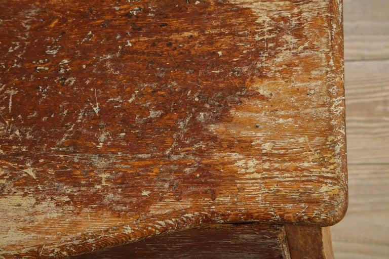 Pine Elegant Rococo Pier Table with Drawer, Origin: Sweden, Circa 1760 For Sale