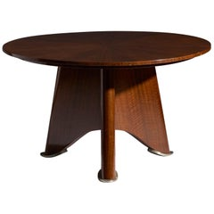 Elegant Rosewood Coffee Table Attributed to Jules Leleu