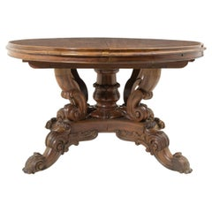 Elegant Round Table in Wood from 19th Century