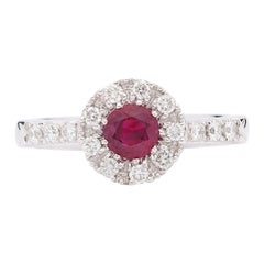 Elegant Ruby and Diamond Ring