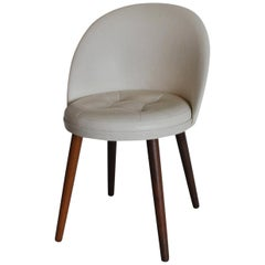 Elegant Scandinavian Modern Vanity Chair Designed in the 1950s