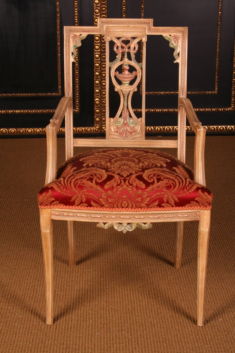 18th Century and Earlier Elegant Seating Group in the Classicist Style For Sale