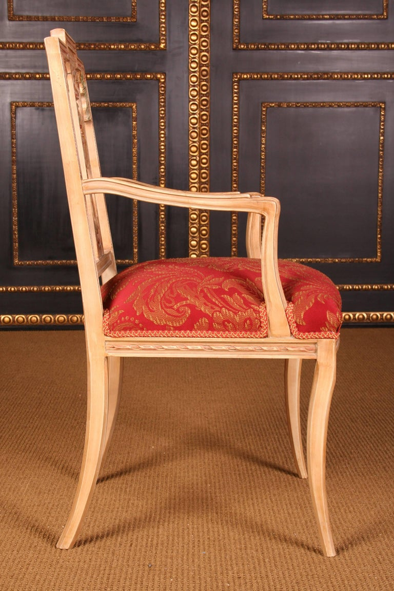 Beech Elegant Seating Group in the Classicist Style For Sale