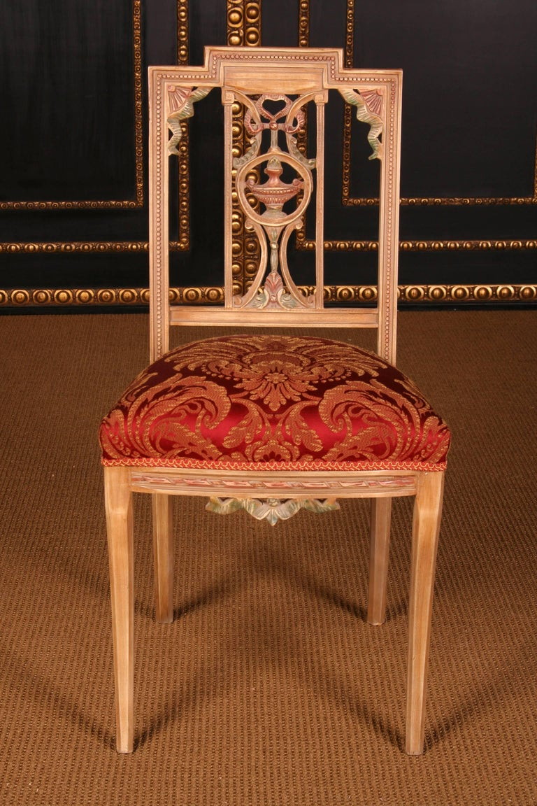 Hand-Carved Elegant Seating Group in the Classicist Style For Sale