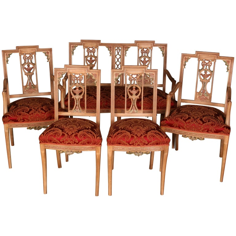 Elegant Seating Group in the Classicist Style For Sale