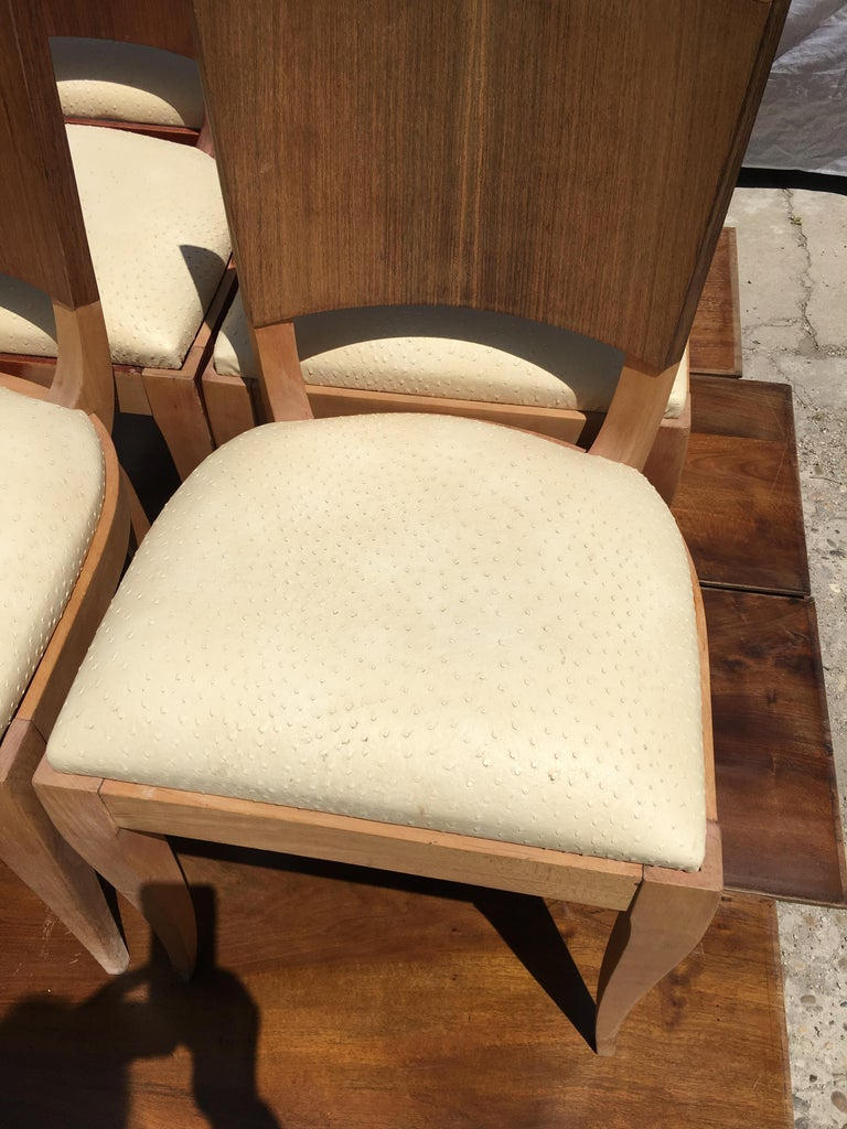 Classic and Elegant Set of 6 French Art Deco Dining Chairs For Sale 4