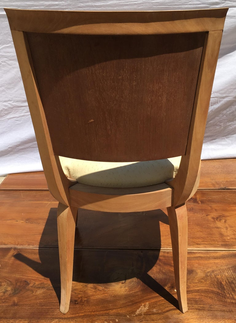 Classic and Elegant Set of 6 French Art Deco Dining Chairs For Sale 6