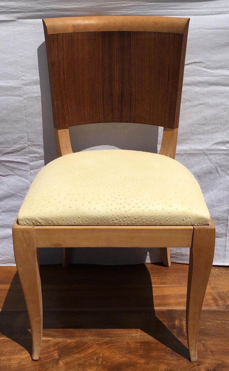 Classic and Elegant Set of 6 French Art Deco Dining Chairs In Good Condition For Sale In Arles, FR