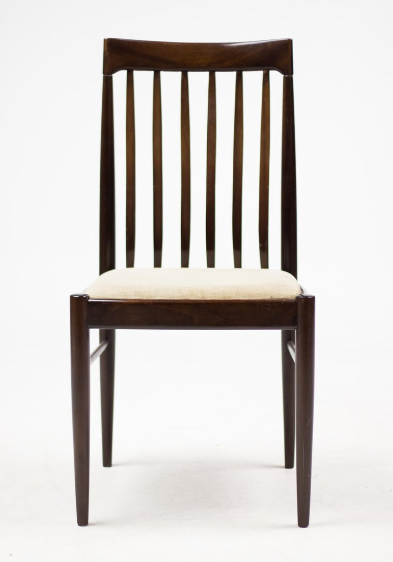 Elegant Set of Eight H.W. Klein Dining Chairs in Mahogany In Good Condition For Sale In Dronten, NL