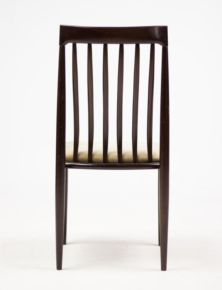 Velvet Elegant Set of Eight H.W. Klein Dining Chairs in Mahogany For Sale