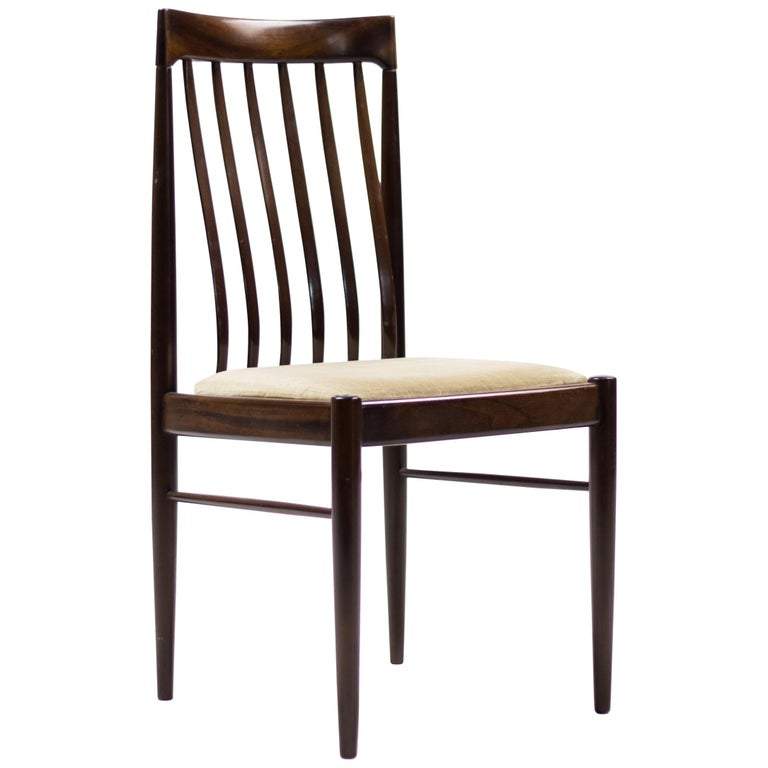 Elegant Set of Eight H.W. Klein Dining Chairs in Mahogany For Sale