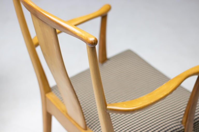 Scandinavian Modern Elegant Set of Nordiska Kompaniet Dining Chairs For Sale