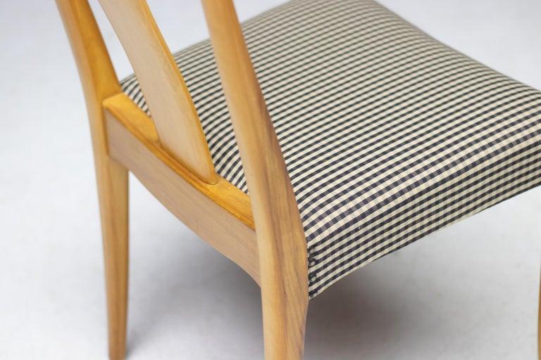 Fabric Elegant Set of Nordiska Kompaniet Dining Chairs For Sale