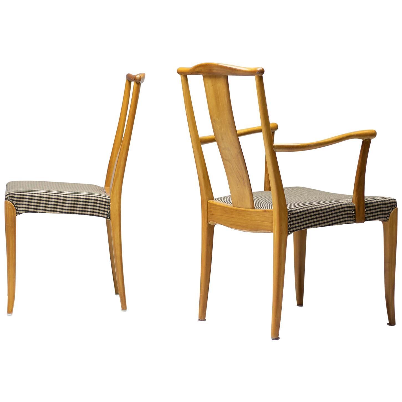 Elegant Set of Nordiska Kompaniet Dining Chairs