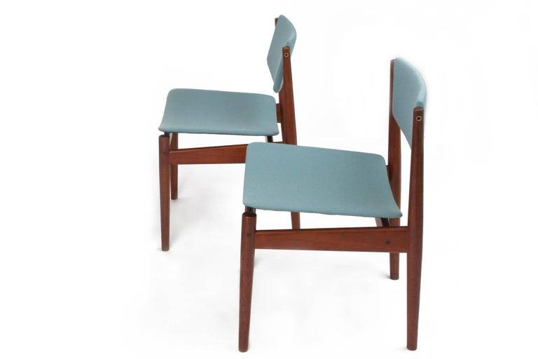 Mid-20th Century Finn Juhl Set of Six Scandinavian Modern Teak Dining Chairs, Denmark 1960's For Sale
