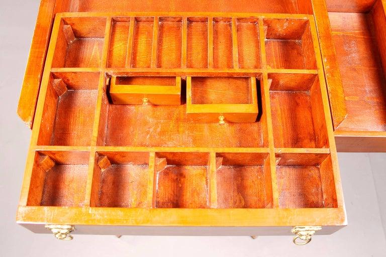 Elegant Sewing Table in Biedermeier Style For Sale 3