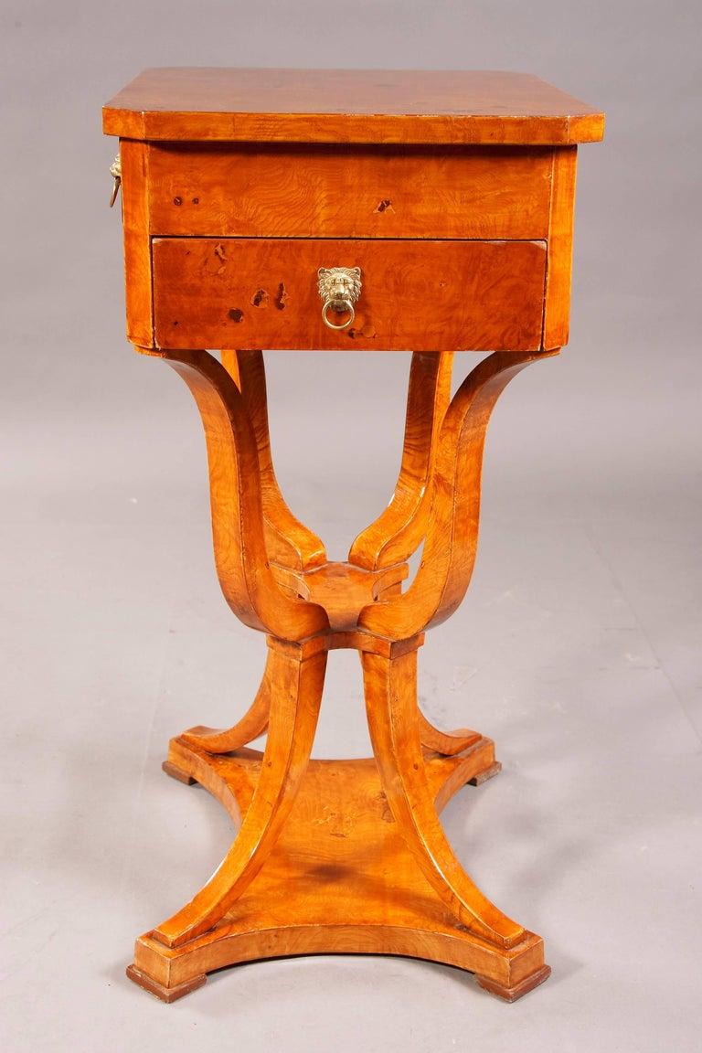 20th Century Elegant Sewing Table in Biedermeier Style For Sale