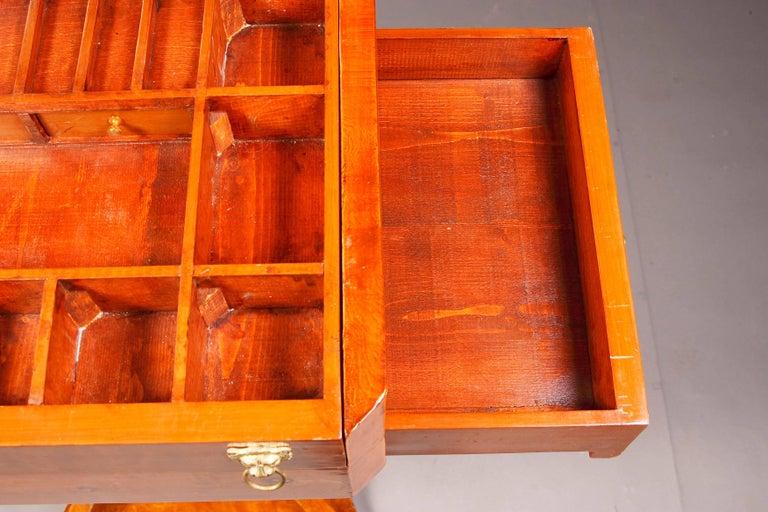 Elegant Sewing Table in Biedermeier Style For Sale 2