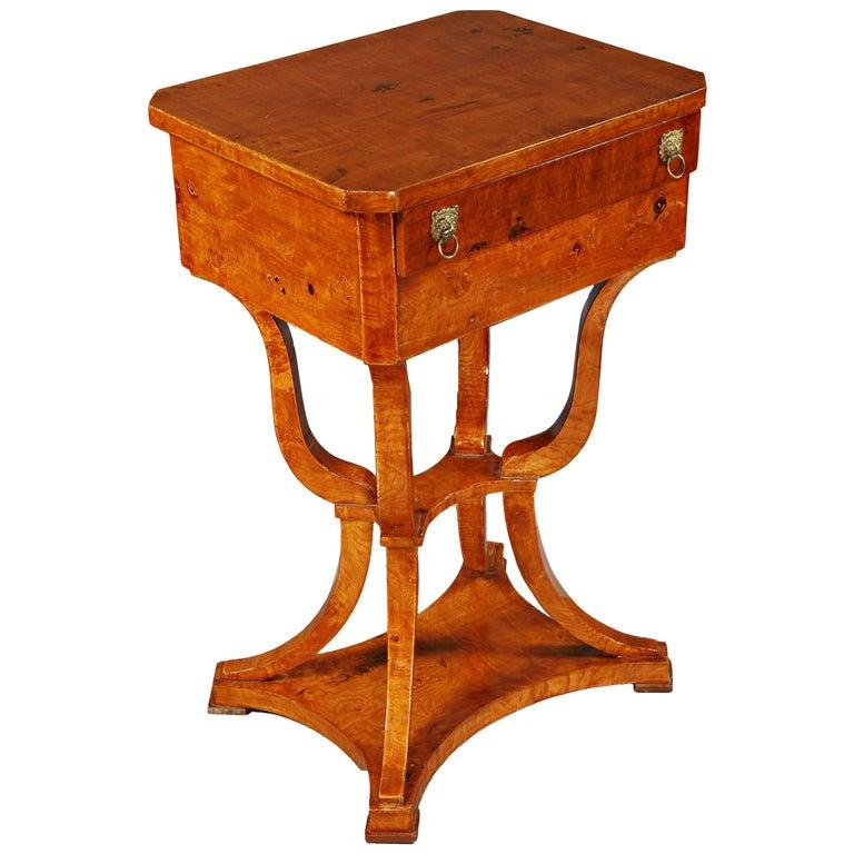Elegant Sewing Table in Biedermeier Style For Sale