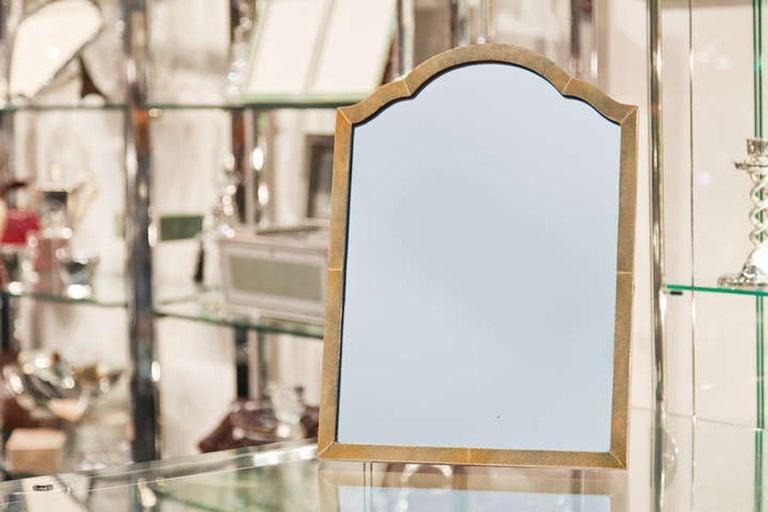 Mid-20th Century Elegant Shagreen French Art Deco Table Mirror, circa 1930 For Sale