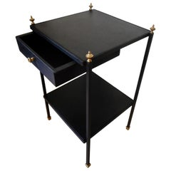 Elegant Side Table Attributed to Jacques Adnet, France, 1950