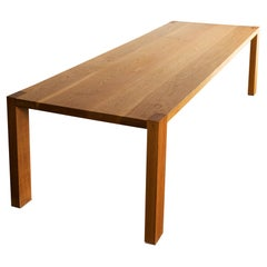 Elegant Solid Oak Dining Table, 2016