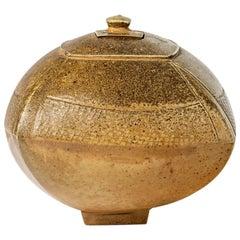 Elegant Stoneware Ceramic Decorative Box by Steen Kepp, circa 1975