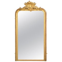 Elegant Tall 19th Century Giltwood Mirror