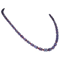Elegant Tanzanite and Ruby Necklace
