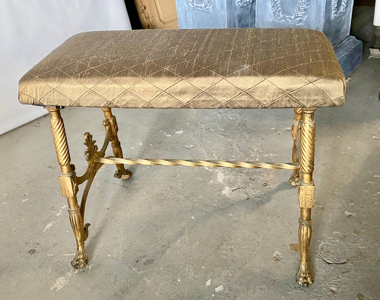 19th Century Elegant Vanity Seat or Bench For Sale
