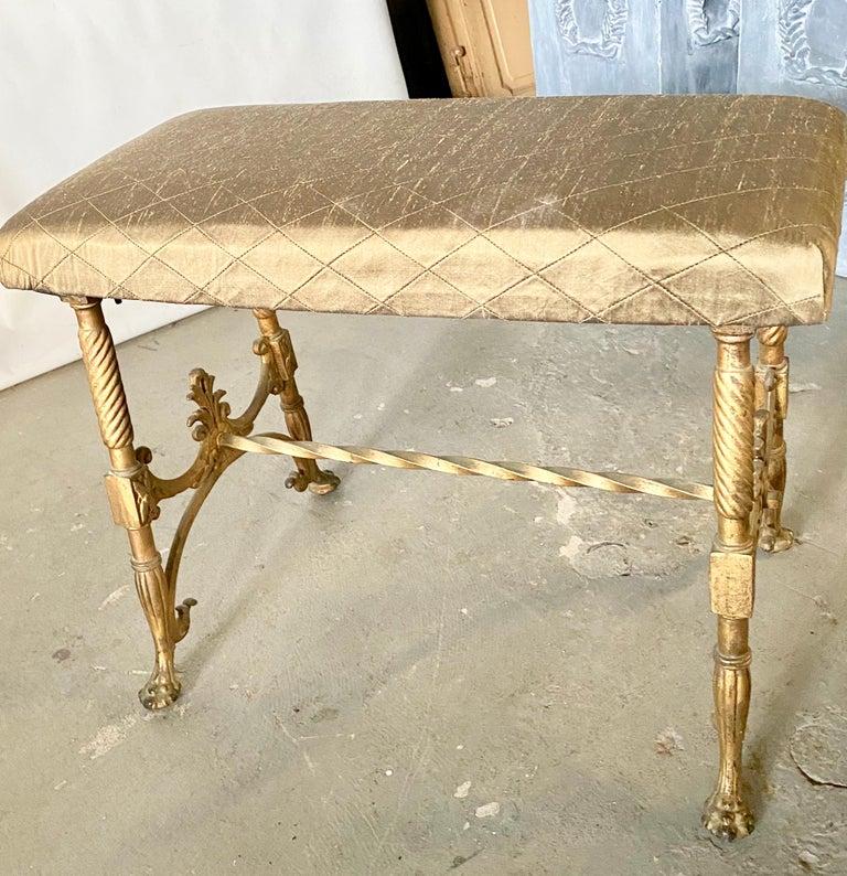 Iron Elegant Vanity Seat or Bench For Sale