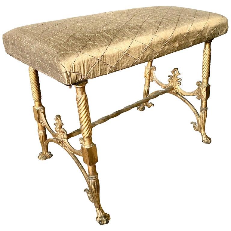 Elegant Vanity Seat or Bench For Sale