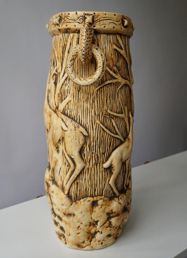 Elegant Vase with Deer Motifs, 1950s For Sale 10