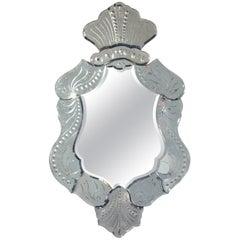 Elegant Venetian Mirror, circa 1950s