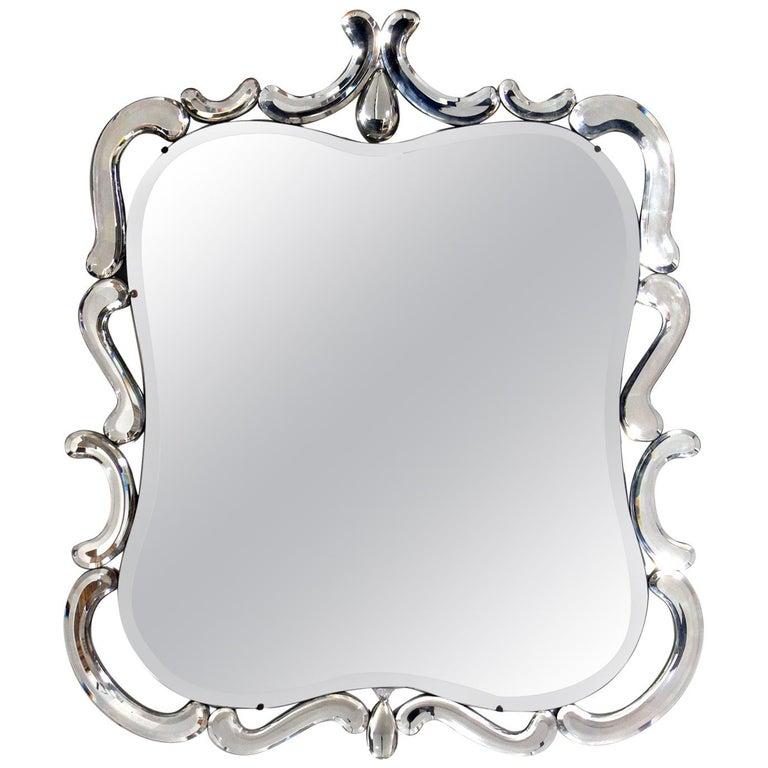 Elegant Venetian Mirror For Sale