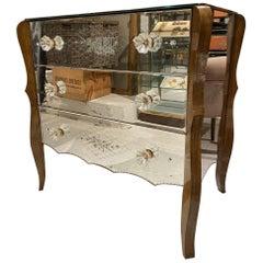 Elegant Venetian-Style Mirrored Dresser, 1940s, France